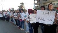 Suriyede kadın ve çocuklardan PYD/PKK protestosu