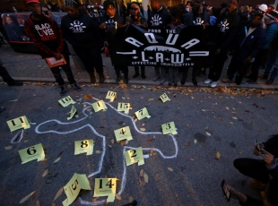 Chicagoda barışçıl protesto