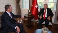Başbakan Yıldırım, ABD Savunma Bakanı Carterı kabul etti