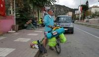 Bisikletle Karadeniz turuna çıktı