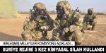BM: Suriye rejimi 3 kez kimyasal silah kullandı