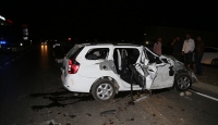 Düğün yolunda kaza: 1 ölü, 10 yaralı