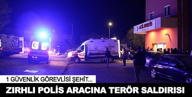Bingölde zırhlı polis aracına bomba yüklü araçla saldırı: 1 şehit