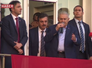 Başbakan Yıldırım, Afyonkarahisarda halka hitap etti