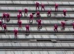 Meksikada akrobasi gösterisi