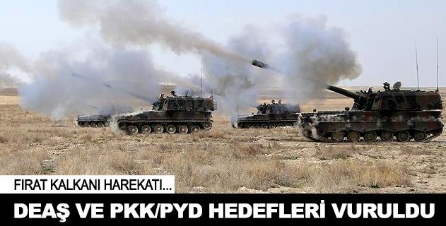 DEAŞ ve PKK/PYD hedefleri vuruldu