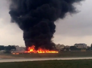 Maltada uçak kazası