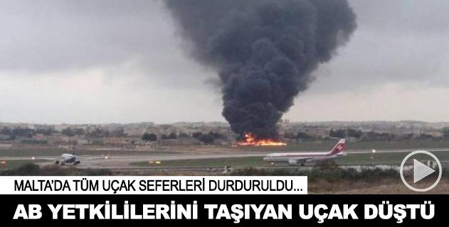 AB yetkililerinin bulunduğu uçak düştü: 5 ölü
