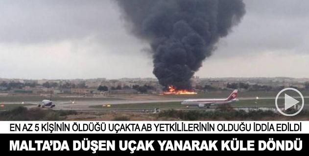 Maltada uçak kazası: 5 ölü