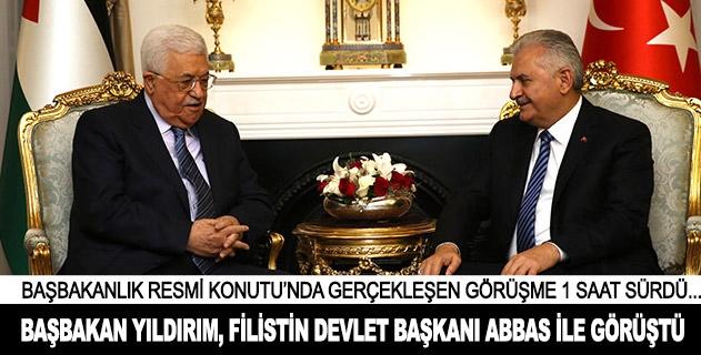 Başbakan Yıldırım, Filistin Devlet Başkanı Abbas ile görüştü