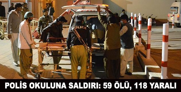 Pakistanda polis okuluna saldırı: 59 ölü