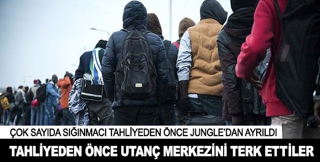 Tahliyesi başlamadan Jungleı terk ettiler