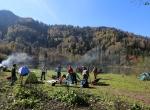 Saklı cennet Karagölde iki mevsim bir arada yaşanıyor