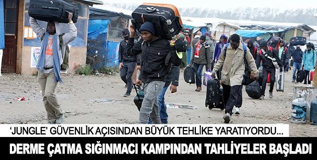 Derme çatma sığınmacı kampından bu sabah bin 56 kişi tahliye edildi