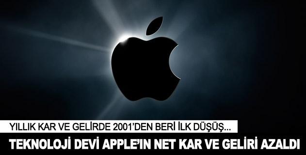 Teknoloji devi Appleın kar ve geliri azaldı
