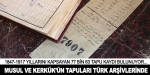 Musul ve Kerkük'ün tapu kayıtları Türk arşivlerinde