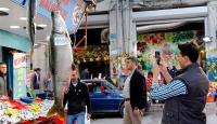 Elazığda 2 metrelik turna balığı yakalandı
