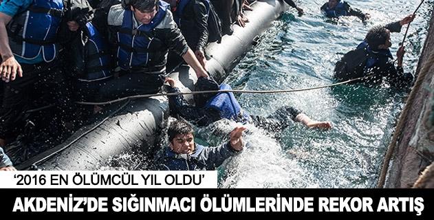 Akdenizde sığınmacı ölümlerinde rekor artış