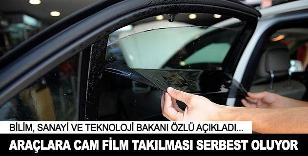 Araçlara cam film takılması serbest oluyor