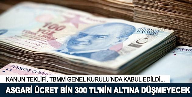 Asgari ücret bin 300 TLnin altına düşmeyecek
