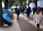 Paris sokaklarında yaşayan sığınmacılar
