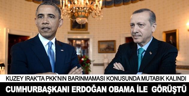 Cumhurbaşkanı Erdoğan ile Obama telefonda görüştü