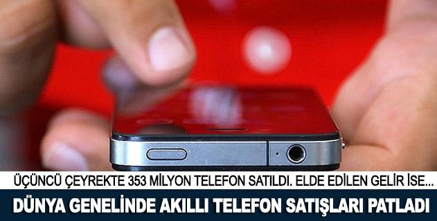 Dünya genelinde akıllı telefon satışları patladı