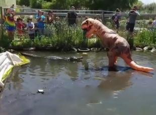 Timsahın dinozor tepkisi