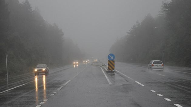 Bolu Dağında yoğun sis