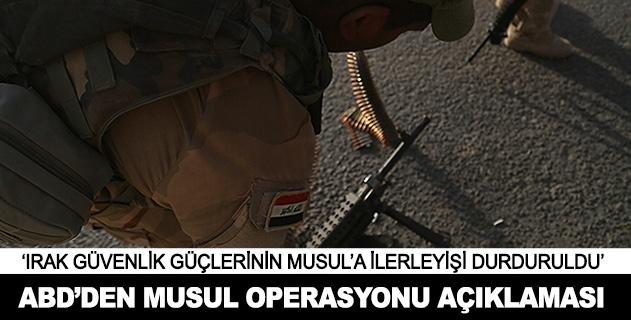 Irak güvenlik güçlerinin Musula ilerleyişi durduruldu