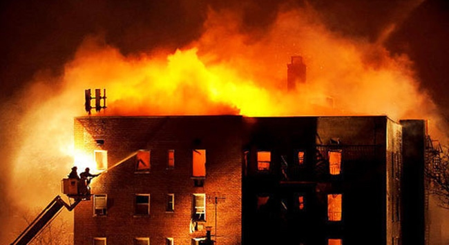 Bodrumda ev yangını: 1 ölü 3 yaralı