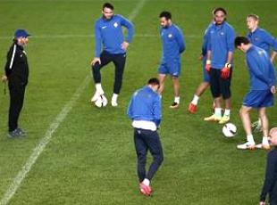 Osmanlıspor maç öncesi son antrenmanını yaptı
