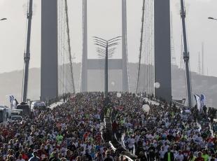 15 Temmuz Şehitler Köprüsünde ilk maraton