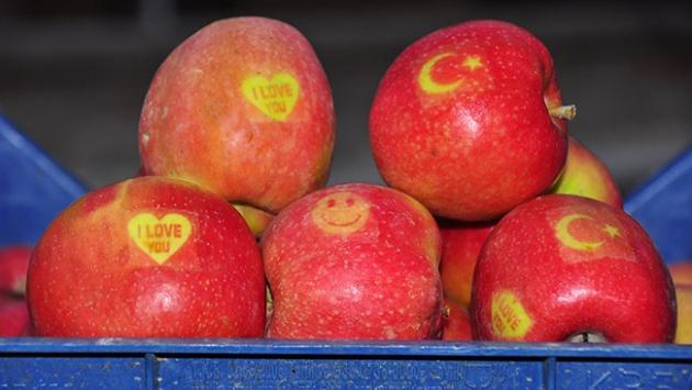 """""""Ay yıldızlı"""" elmalara yoğun talep"""