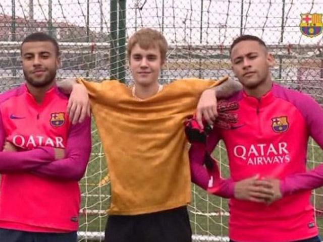 Justin futbolda da iyiymiş
