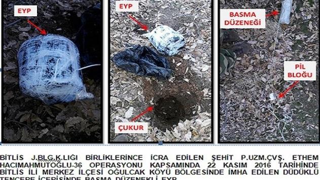 Bitliste el yapımı patlayıcı imha edildi