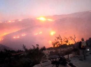 İsrailde çıkan yangınları söndürme çalışmaları devam ediyor