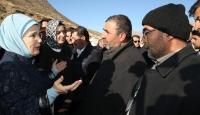 Emine Erdoğan Siirtteki maden faciası bölgesinde