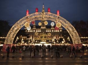 Viyana'da Noel fuarı
