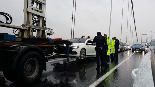 Köprüde şüpheli araç alarmı