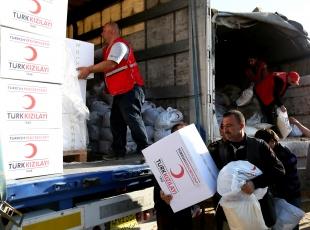 En büyük yardım Türkiyeden