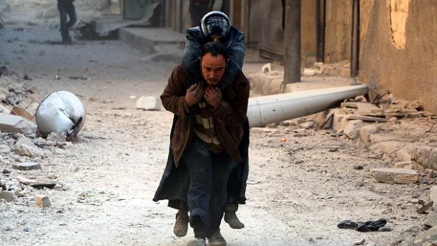 Halep yoğun bombardıman altında: 30 ölü, 250 yaralı