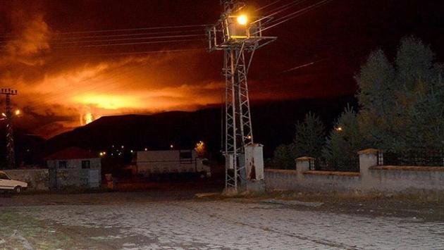 Siirtte doğalgaz boru hattına terör saldırısı