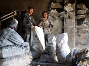 İdlib'te fırında yangın