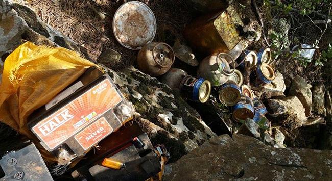 PKKya ait depo ele geçirildi