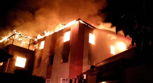 Adanada yurttaki yangın soruşturmasında 13 gözaltı