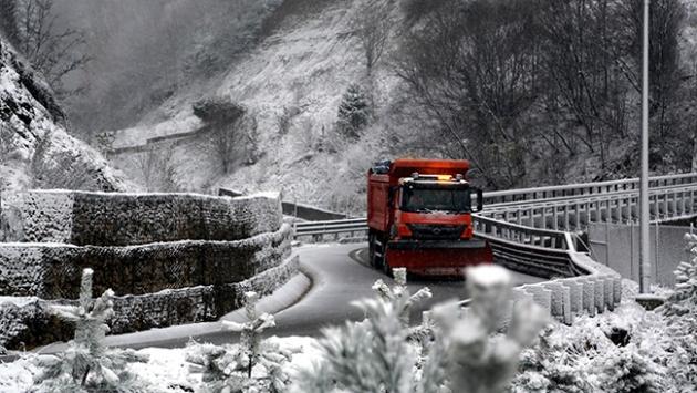Bolu Dağında kar yağışı