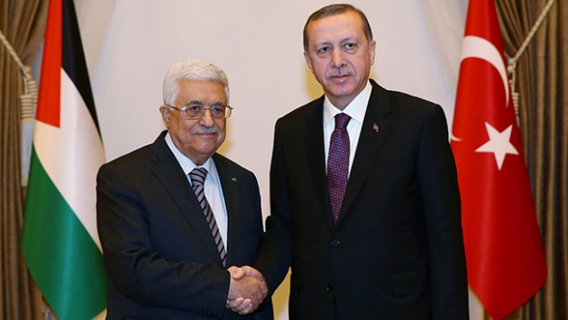 Cumhurbaşkanı Erdoğandan Mahmud Abbasa tebrik telefonu