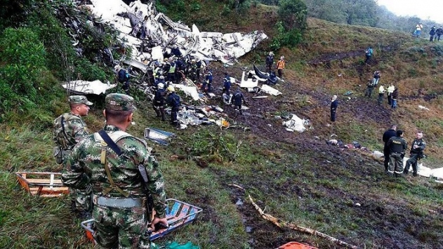 Kolombiyada düşen uçağın telsiz kayıtları ortaya çıktı