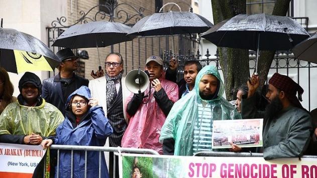 Arakanlı Müslümanlara yönelik şiddet ABDde protesto edildi